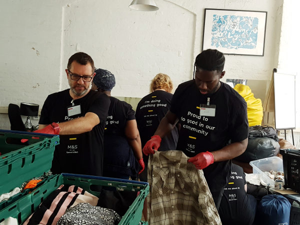 Corporate Social Responsibility sorting clothes