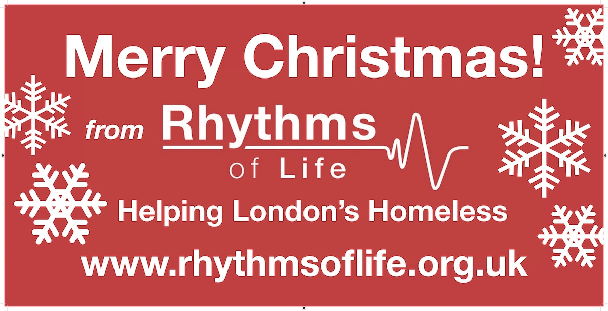 Rhythms of Life Reaching Out to London's Homeless This Christmas
