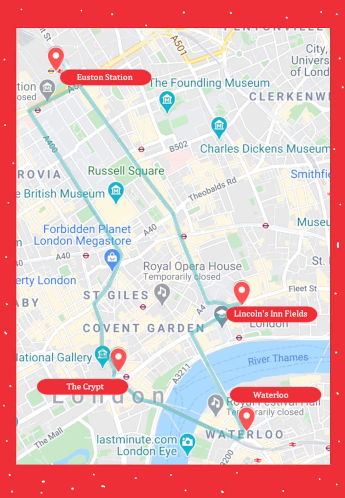 12 Days of Christmas Map